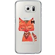 Voor Samsung Galaxy S7 Edge Transparant / Patroon hoesje Achterkantje hoesje Dier Zacht TPU SamsungS7 edge / S7 / S6 edge plus / S6 edge
