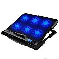 abordables Ofertas Especiales-pantalla led de 6 ventiladores de refrigeración ajustable portátil pad soporte de refrigeración portátil