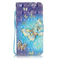 Mert Samsung Galaxy S7 Edge Kártyatartó / Pénztárca / Állvánnyal / Flip / Minta Case Teljes védelem Case Pillangó Kemény Műbőr SamsungS7