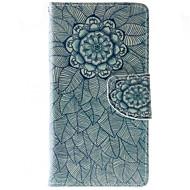 For HTC etui Pung Kortholder Med stativ Flip Etui Heldækkende Etui Mandala-mønster Hårdt Kunstlæder for HTC HTC Desire 626