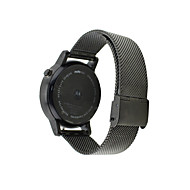 Недорогие Аксессуары для смарт-часов-Ремешок для часов для Мото 360 Motorola Классическая застежка Нержавеющая сталь Повязка на запястье