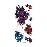 Временные тату Тату с цветами Non Toxic С рисунком Waterproof 3-DЖенский Взрослый Вспышка татуировки Временные татуировки