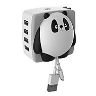 4 puertos USB Carga rápida / Kit de Carga / Puertos Multi Enchufe EU / Enchufe USA Cargador portatil Sólo cargadorpara el iPad / para el