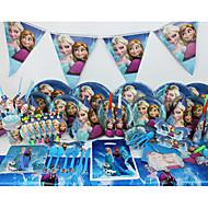 豪華なディズニー冷凍78pcs誕生日パーティーの装飾の子供evnentパーティー用品パーティーの装飾6人が使います