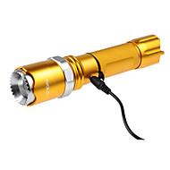 U'King ZQ-X924 LED손전등 LED 1200LM lm 5 모드 - 크리어 XM-L2 조절가능한 초점 충전식 휴대성 줌이 가능한 용 캠핑/등산/동굴탐험 등산 야외 배터리 불포함 골드 블랙 브라운 그린 블루