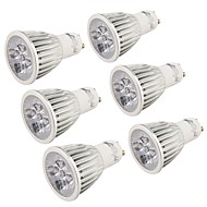 5W GU10 LED Spotlight MR16 5 High Power LED 400-450 lm Cold White 6000 K Decorative AC 85-265 V