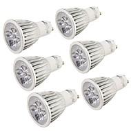 5W GU10 LED-spotlampen MR16 5 leds Krachtige LED Decoratief Koel wit 400-450lm 6000K AC 85-265V