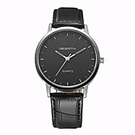 Недорогие Фирменные часы-REBIRTH Муж. Кварцевый Наручные часы Нарядные часы / Горячая распродажа PU Группа На каждый день Черный Коричневый