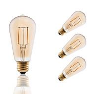 voordelige LED-gloeilampen-GMY® 4pcs 180 lm E26/E27 LED-gloeilampen ST19 2 leds COB Dimbaar Decoratief Amber AC 110-130V
