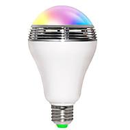 Χαμηλού Κόστους Έξυπνες LED Λάμπες-5W E26/E27 LED Έξυπνες Λάμπες B 10 leds SMD 5730 200-250lm RGB Bluetooth Ενεργοποίηση Ήχου WIFI AC 85-265