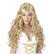 Vrouw Synthetische pruiken Lang Body Golf Blond Gevlochten pruik Afrikaanse vlechten Halloween Pruik Carnaval Pruik Natuurlijke pruik