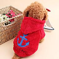 قط كلب هوديس ملابس الكلاب جميل الدفء بحار أبيض رمادي وردي أحمر أزرق كوستيوم للحيوانات الأليفة