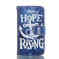 Для Кейс для  Samsung Galaxy Бумажник для карт / Кошелек / со стендом / Флип Кейс для Чехол Кейс для Якорь Мягкий Искусственная кожа