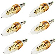 E14 LED-kaarslampen CA35 32 leds SMD 3014 Decoratief Warm wit 250lm 3000K AC 85-265 AC 220-240 AC 100-240 AC 110-130V