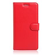 お買い得  携帯電話ケース-ケース 用途 BQ カードホルダー / スタンド付き / フリップ フルボディーケース ソリッド ハード PUレザー のために Aquaris X5 Plus / Aquaris X5 / Aquaris A4.5