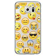 Недорогие Чехлы и кейсы для Galaxy S-Кейс для Назначение SSamsung Galaxy Samsung Galaxy S7 Edge Ультратонкий Полупрозрачный Кейс на заднюю панель Плитка Мягкий ТПУ для S7