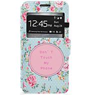 Для Кейс для  Samsung Galaxy Бумажник для карт / со стендом Кейс для Чехол Кейс для Цветы Твердый Искусственная кожа SamsungJ7 / J5 / J3