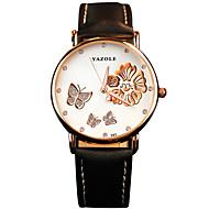 YAZOLE Женские Модные часы Повседневные часы Наручные часы / Кварцевый PU Группа Бабочка Cool Повседневная Черный Белый Красный