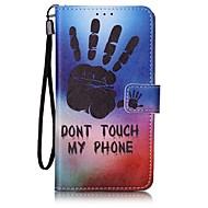 Для Кейс для  Samsung Galaxy Кошелек / Бумажник для карт Кейс для Чехол Кейс для Мультяшная тематика Твердый Искусственная кожа Samsung