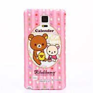задний рисунок чехол мягкий чехол крышка симпатичный медведь TPU для Samsung Galaxy Примечание 5 Примечание 4 примечание 3