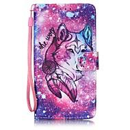 Для Кейс для  Samsung Galaxy Кошелек / Бумажник для карт Кейс для Чехол Кейс для Животный принт Твердый Искусственная кожа SamsungJ7