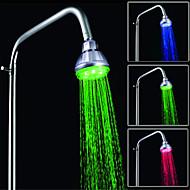 førte temperaturkontroll tre farger dusj spray (abs plating)