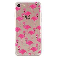 Назначение iPhone X iPhone 8 iPhone 7 iPhone 6 Кейс для iPhone 5 Чехлы панели С узором Задняя крышка Кейс для Фламинго Мягкий Термопластик