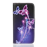 Для Кейс для  Samsung Galaxy Кошелек / Бумажник для карт / со стендом / Флип / Рельефный / С узором Кейс для Чехол Кейс для Бабочка