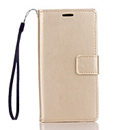 На все тело бумажник / Визитница / с подставкой / кувырок Однотонные Искусственная кожа жесткий Для крышки случая HuaweiHuawei P9 Lite /