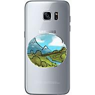 Для Samsung Galaxy S7 Edge С узором Кейс для Задняя крышка Кейс для Пейзаж Мягкий TPU Samsung S7 edge / S7 / S6 edge plus / S6 edge / S6