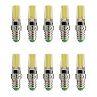 お買い得  LED スポットライト-10個 3 W 200 lm E14 LEDスポットライト T 1 LEDビーズ COB 装飾用 温白色 / クールホワイト 220-240 V / RoHs