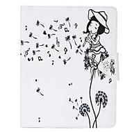 olcso iPad tokok-Mert Kártyatartó Case Teljes védelem Case Pitypang Kemény Műbőr Apple iPad Mini 4 / iPad Mini 3/2/1