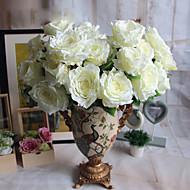 お買い得  文房具-人工花 1 ブランチ モダンスタイル バラ テーブルトップフラワー