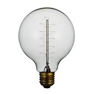e27 40W G80 rundt ledningen amerikansk restaurant ball edison retro dekorative lyspærer