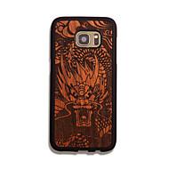 Для Кейс для  Samsung Galaxy Чехлы панели Рельефный Задняя крышка Кейс для Животное Твердый Дерево для Samsung S7 edge S7