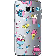 Недорогие Чехлы и кейсы для Galaxy S7 Edge-Кейс для Назначение SSamsung Galaxy Samsung Galaxy S7 Edge Прозрачный Other Кейс на заднюю панель Фрукты Мягкий ТПУ для S7 edge S7 S6