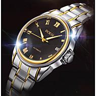 Недорогие Фирменные часы-BOSCK Муж. Кварцевый Механические часы Нарядные часы Календарь Защита от влаги Нержавеющая сталь Группа На каждый день World Map Pattern