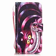 Назначение iPhone 8 iPhone 8 Plus iPhone 7 iPhone 7 Plus iPhone 6 Чехлы панели Бумажник для карт С узором Чехол Кейс для Кот Твердый
