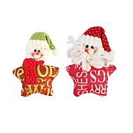 abordables Hogar y Mascotas-navidad tela pentagrama carta ornamento navidad decoración