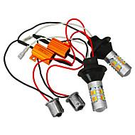 abordables Intermitentes para Coche-JIAWEN 2pcs Coche Bombillas 25W SMD 5730 400lm LED Luz de Intermitente