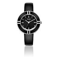 Недорогие Фирменные часы-Жен. Наручные часы Кварцевый 30 m Защита от влаги Имитация Алмазный Кожа Группа Аналоговый Роскошь Блестящие Мода Белый - Красный Синий Охотничий зеленый