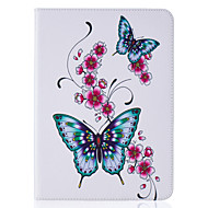 For Samsung Galaxy Tab T815 T715 T580 T560 T550 T377 T280 T350 PU Leather Material Peach Butterflies Embossed Pattern Plate Sets