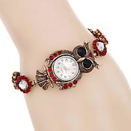 tanie Modne zegarki-Damskie Modny Zegarek na nadgarstek Zegarek na bransoletce Sztuczny Diamant Zegarek Kwarcowy / Punk Kolorowy sztuczna Diament Stop Pasmo