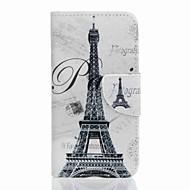 halpa Galaxy J5 kotelot / kuoret-Etui Käyttötarkoitus Samsung Galaxy J5 (2016) J3 (2016) Lomapkko Korttikotelo Tuella Kokonaan peittävä Eiffel-torni Kova PU-nahka varten