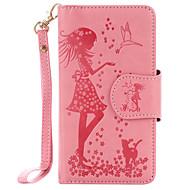 Для samsung galaxy a510 a310 pu кожаный материал женщина и узор для кошки с тиснением 9 кассета с зеркальным корпусом телефона