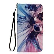 Недорогие Чехлы и кейсы для Galaxy S7 Edge-Кейс для Назначение SSamsung Galaxy S7 edge S7 Бумажник для карт Кошелек со стендом Чехол Градиент цвета Твердый Искусственная кожа для