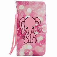 Для samsung galaxy a5 (2016) a3 (2016) чехол для корпуса розовый слон покраска pu phone case