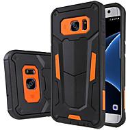 Недорогие Чехлы и кейсы для Galaxy S8-Кейс для Назначение SSamsung Galaxy Samsung Galaxy S7 Edge Защита от удара со стендом Кейс на заднюю панель броня ПК для S8 Plus S8 S7