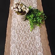 abordables Mantelería-Rectangular Bordado Corredor de Tabla , Lino / Rayón Material Decoración del banquete de boda Bodas