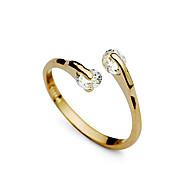 指輪 結婚式 / パーティー / 日常 ジュエリー 合金 / ジルコン 女性 バンドリング調整可 ゴールデン